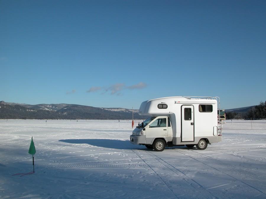 冬の阿寒湖